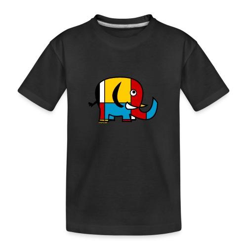 Mondrian Elephant - Teenager Premium Organic T-Shirt
