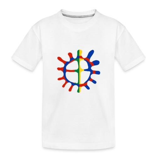 Samisk sol - Premium økologisk T-skjorte for tenåringer