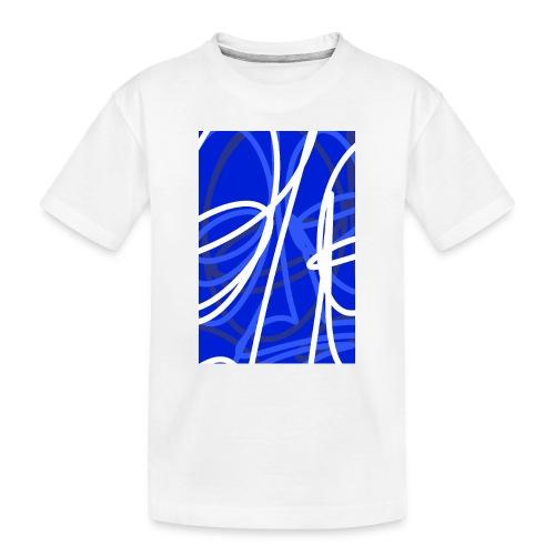 FRTZNABSTRCTN Blau (#176) - Teenager Premium Bio T-Shirt