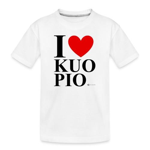 I LOVE KUOPIO ORIGINAL (musta) - Teinien premium luomu-t-paita