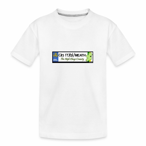 CO. MEATH, IRELAND: licence plate tag style decal - Teenager Premium Organic T-Shirt