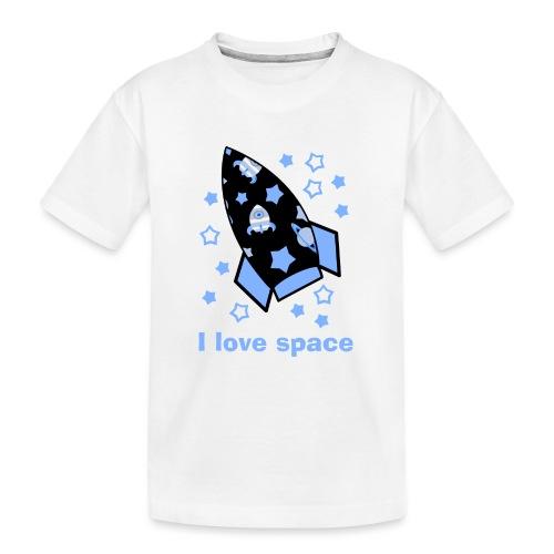 I love space - Maglietta ecologica premium per ragazzi