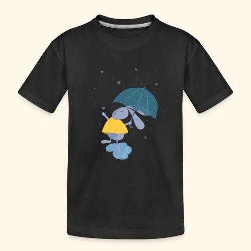 happy in the rain - Teenager Premium Organic T-Shirt