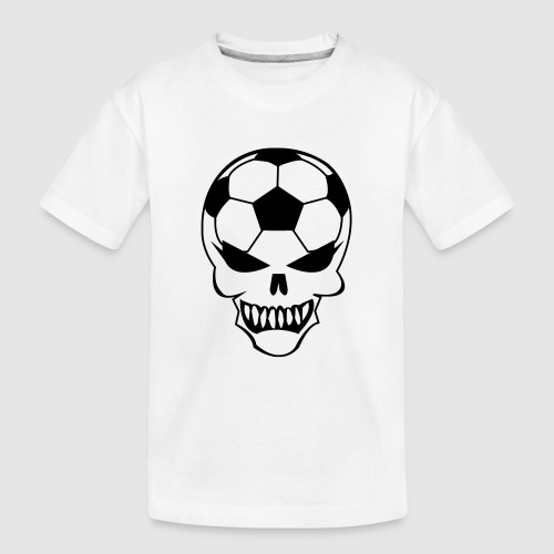 Fußball-Totenkopf - Teenager Premium Bio T-Shirt