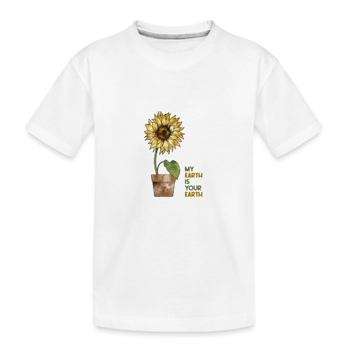 My earth is your earth - Teenager Premium Bio T-Shirt