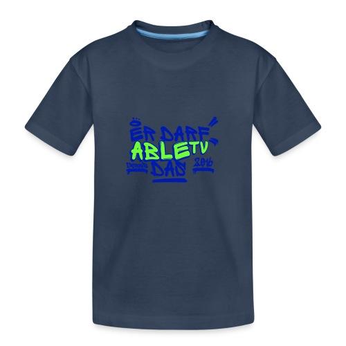 AbleTV Grafitti Logo Marken Shirt (Er Darf Das) - Teenager Premium Bio T-Shirt