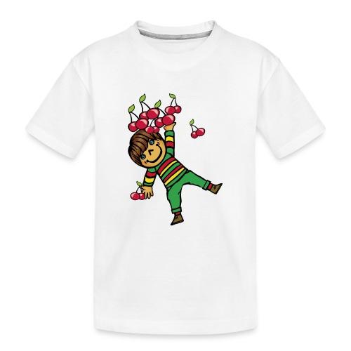 08 kinder kapuzenpullover hinten - Teenager Premium Bio T-Shirt