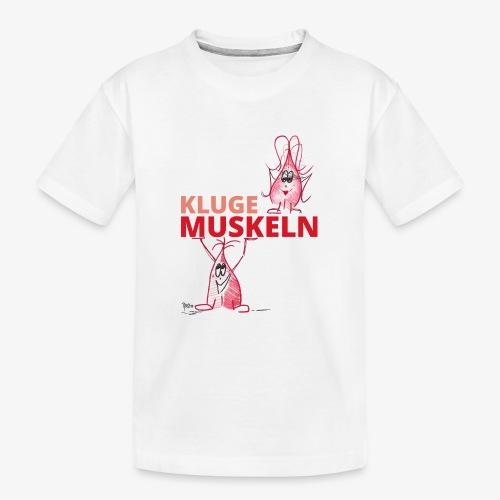 Kluge Muskeln - Teenager Premium Bio T-Shirt