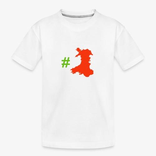 Hashtag Wales - Teenager Premium Organic T-Shirt