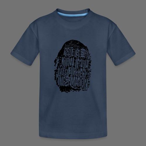 Fingerprint DNA (black) - Teenager Premium Organic T-Shirt