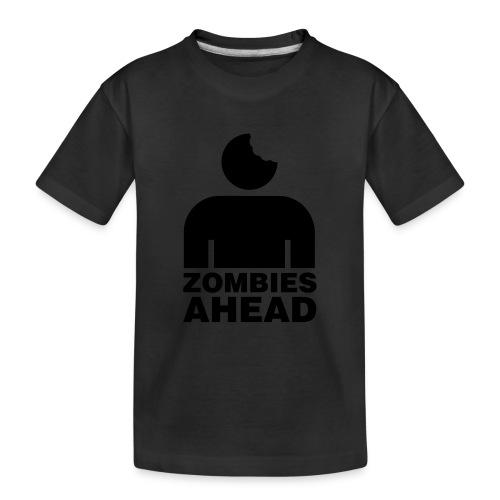 Zombies Ahead - Ekologisk premium-T-shirt tonåring
