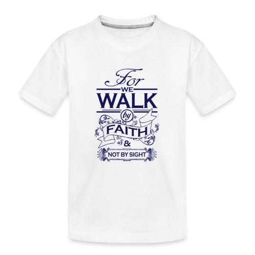 walk navy - Teenager Premium Organic T-Shirt