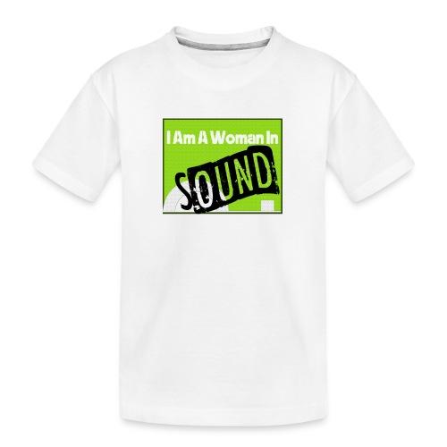 I am a woman in sound - Teenager Premium Organic T-Shirt