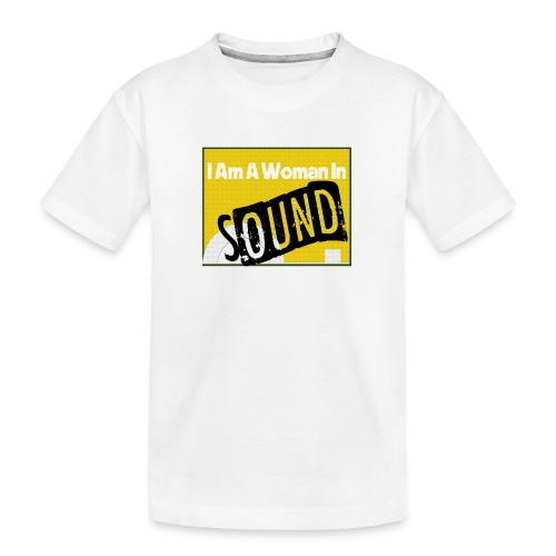 I am a woman in sound - yellow - Teenager Premium Organic T-Shirt