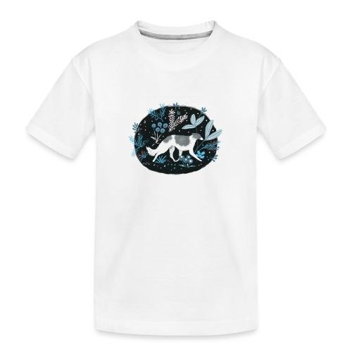 Barsoi im Mitternachtswald - Teenager Premium Bio T-Shirt