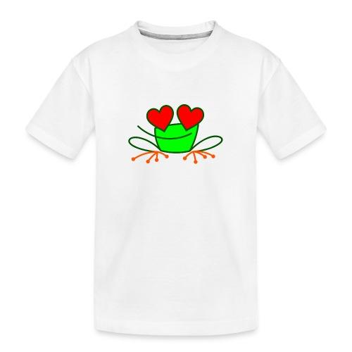 Frog in Love - Teenager Premium Organic T-Shirt