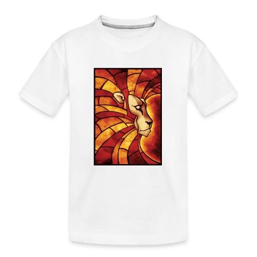 Lion of Judah Mosaik - Teenager Premium Bio T-Shirt