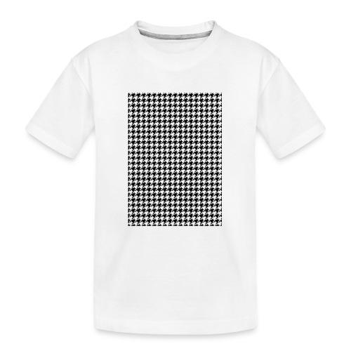 pied de poule v12 final01 - Teenager premium biologisch T-shirt