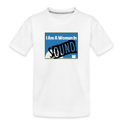 woman in sound - blue - Teenager Premium Organic T-Shirt