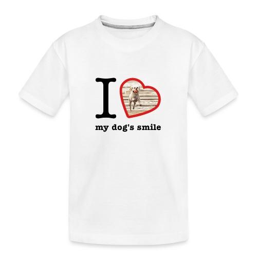 I love my dog's smile :) dog smile - Teenager Premium Organic T-Shirt