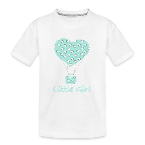 Little Girl in mongolfiera - Maglietta ecologica premium per ragazzi