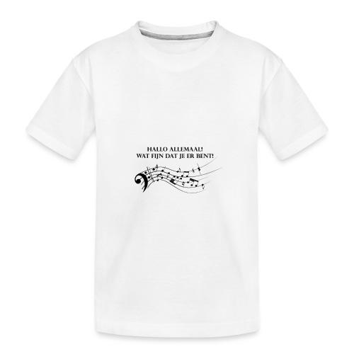Hallo allemaal! - Teenager premium biologisch T-shirt