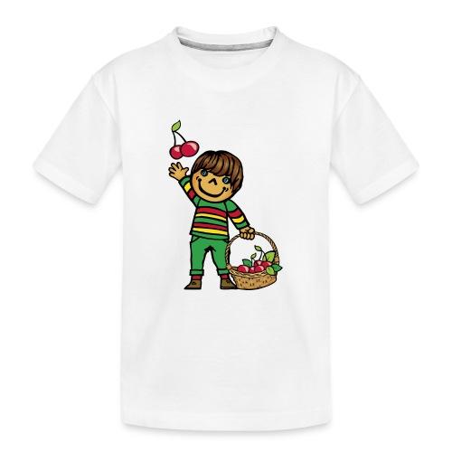 07 kinder kapuzenpullover hinten - Teenager Premium Bio T-Shirt