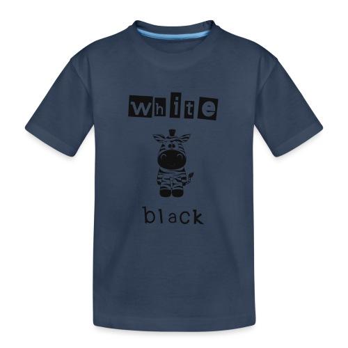 Zebra black or white - Teenager Premium Bio T-Shirt