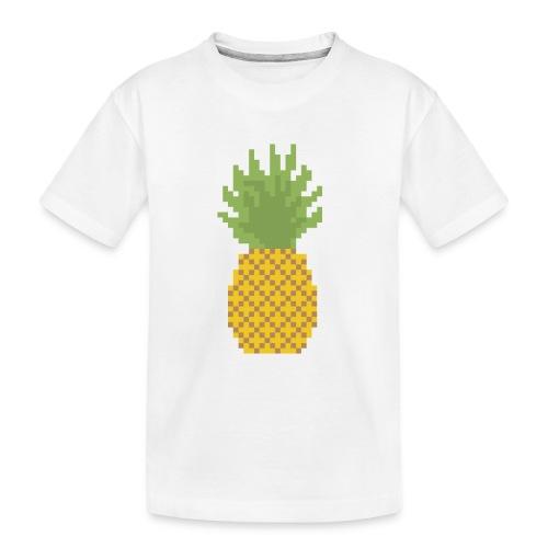 Pineapple Pixel Art - Teenager Premium Organic T-Shirt
