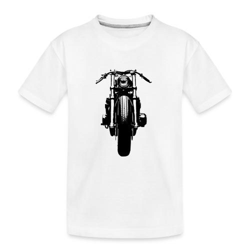 Motorcycle Front - Teenager Premium Organic T-Shirt