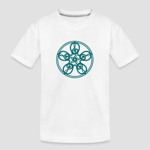 Treble Clef Mandala (teal) - Teenager Premium Organic T-Shirt