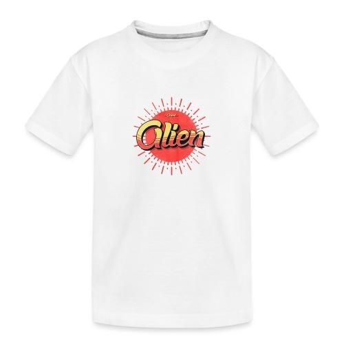 Alien Vintage Logo - Premium økologisk T-skjorte for tenåringer