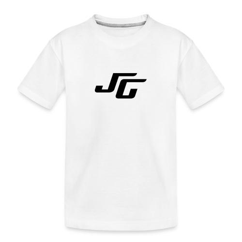 JG Logo schwarz - Teenager Premium Bio T-Shirt
