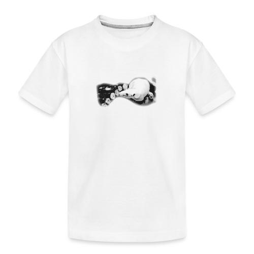 Nakuhiiri, harmaasävyinen - Teinien premium luomu-t-paita