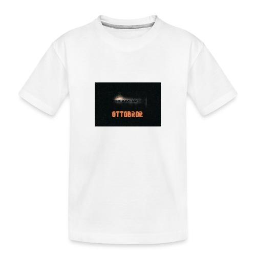 svart granit polerad - Ekologisk premium-T-shirt tonåring