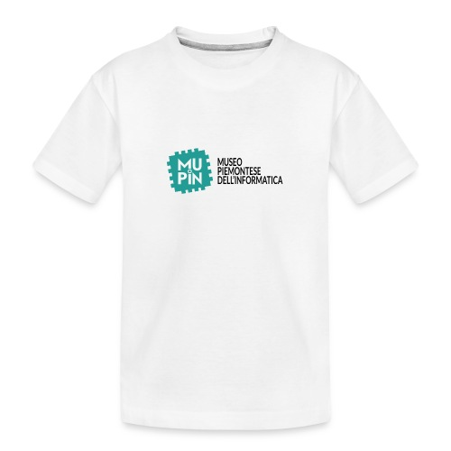 Logo Mupin con scritta - Maglietta ecologica premium per ragazzi
