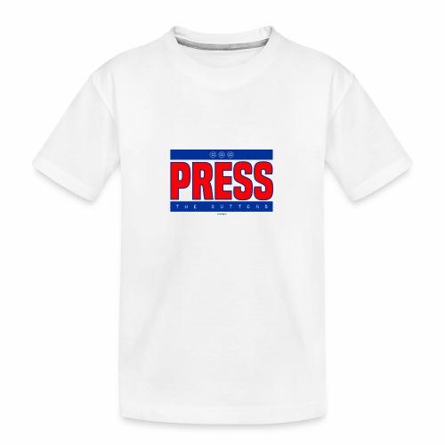 Press the buttons - Teenager premium biologisch T-shirt