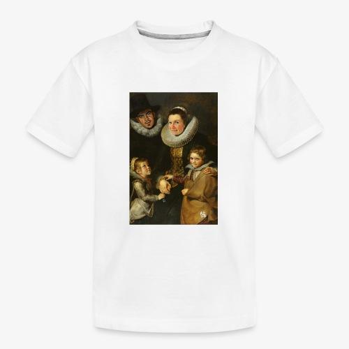 familie-engels2-canvas - Teenager premium biologisch T-shirt