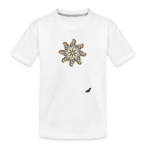 'Sparrow Mandala' by BlackenedMoonArts, w. logo - Teenager premium T-shirt økologisk