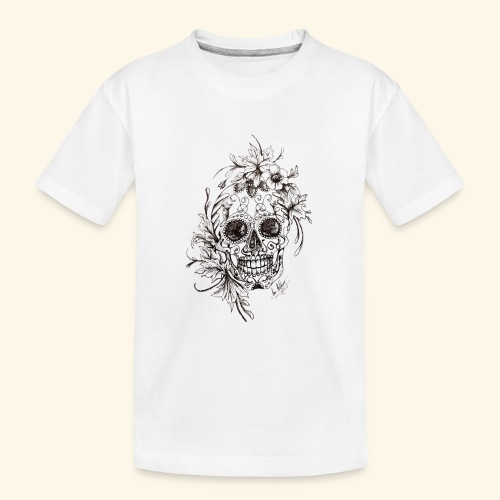 SkullDrawings - Ekologisk premium-T-shirt tonåring