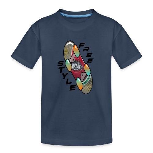 Skateboard Freestyle 2 - Teenager Premium Bio T-Shirt