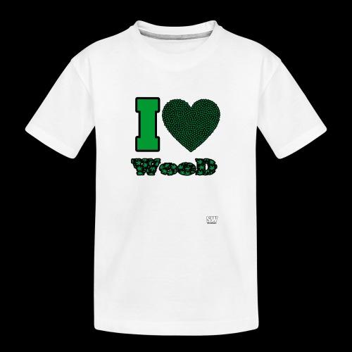 I Love weed - T-shirt bio Premium Ado