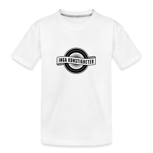 Inga Konstigheters klassiska logga (ljus) - Ekologisk premium-T-shirt tonåring