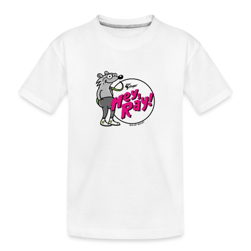 Hey Ray! Logo magenta - Teenager Premium Bio T-Shirt