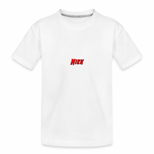Niek Red - Teenager premium biologisch T-shirt