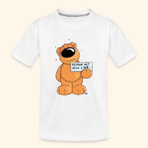 chris bears Keiner hat mich lieb - Teenager Premium Bio T-Shirt
