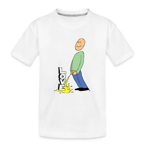 tissekopp farge - Premium økologisk T-skjorte for tenåringer