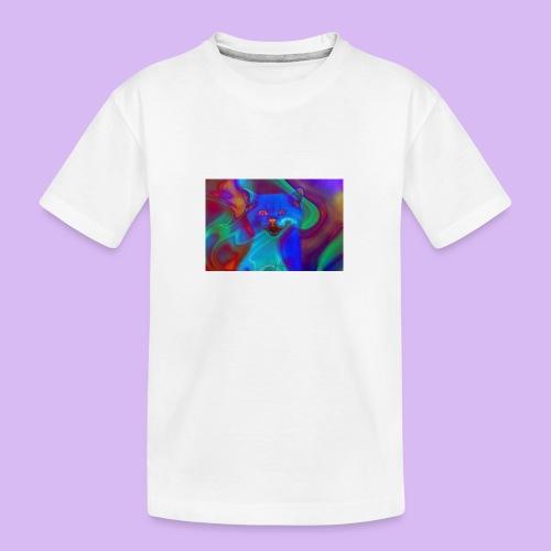 Gattino con effetti neon surreali - Maglietta ecologica premium per ragazzi