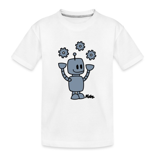 Roboter (2c) - Teenager Premium Bio T-Shirt