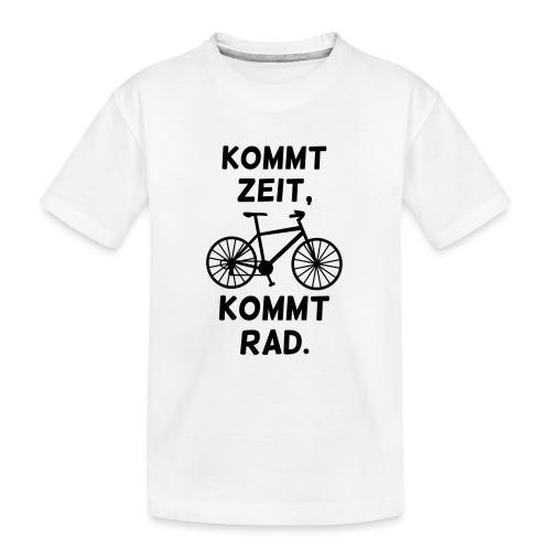 Fahrrad fahren Rad Spruch - Teenager Premium Bio T-Shirt